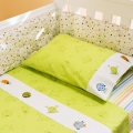 Splash 2pc Cot Sheet Set - Green Frogs