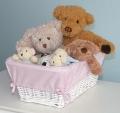 Basket Liner - Pink Gingham