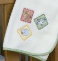 Barn Yard Embroidered Fleece Blanket