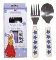 Bunnykins Shining Star Spoon & Fork Set