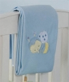 Snug As A Bug Embroidered Fleece Blanket