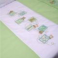 ABC123 Green All Seasons Cot Quilt