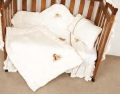 Twin Teddies 6 Piece Cot Set