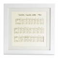 Twinkle Little Star Musical Notes Frame - Limited Edition