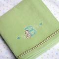 ABC123 Green Brushed Cotton Bassinette Cradle Blanket