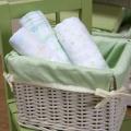 ABC123 Green Muslin Wraps 3pk