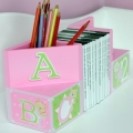 ABC123 Pink Bookends
