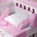 ABC123 Pink Cot Bumper