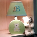 ABC123 Green Lamp & Base