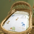 Baby Animals 3pc Bassinette/Cradle Set