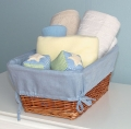 Basket Liner - Chambray