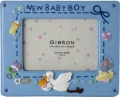 Stork with Baby Blue Photo Frame