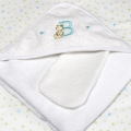 ABC123 Green Hooded Towel & Bath Mitten
