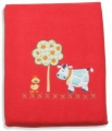 Barnyard Polar Fleece Cot Blanket