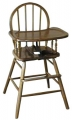 Bow Back Timber High Chair