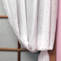 ABC123 Pink Curtains with Tiebacks