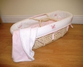 Silhouette Pink Moses Basket