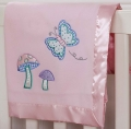 Gossamer Wings Embroidered Fleece Blanket