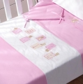 ABC123 Pink All Seasons Cot Quilt