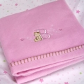 ABC123 Pink Brushed Cotton Bassinette Cradle Blanket