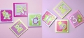ABC123 Pink Wooden Wall Plaques 4pk