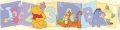 Pooh ABC 123 Wall Border