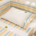 Splash 2pc Cot Sheet Set - Stripes