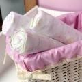 ABC123 Pink Muslin Wraps 3pk