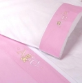 ABC123 Pink 3pc Cot Sheet Set