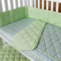 Oslo Green Blue Quilted Cot Comforter