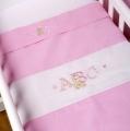 ABC123 Pink Bassinette Cradle 3pc Set