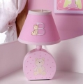 ABC123 Pink Lamp & Base